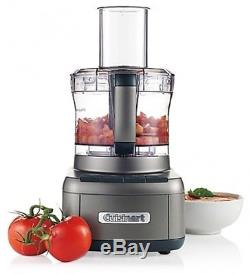 Food Processor 8 Cup Chopping Mixing Shredding Puree Slicing Kneading Silver NEW