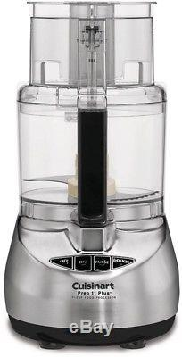 Food Processor Prep Plus 11-Cup Brushed Stainless Steel Chopping Mixing Blade