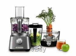Juicer and Food Processor in Gunmetal Cuisinart Kitchen Central with Blender