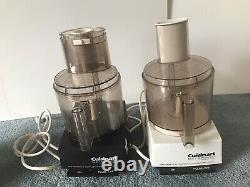 Lot 2 Gently Used Cuisinart DLC-7 Super Pro Commercial Food Processors withExtras