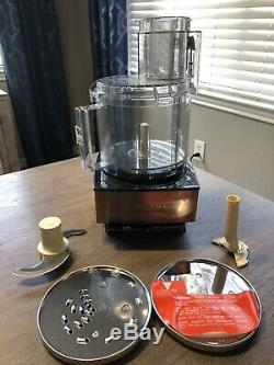 NEW! CUISINART 14 Cup Copper Stainless Steel Food Processor Chopper Slicer Blend