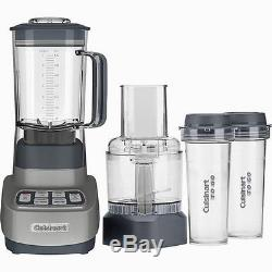 New Cuisinart BFP-650GM Velocity Ultra 1 HP Blender/Food Processor withTravel Cups