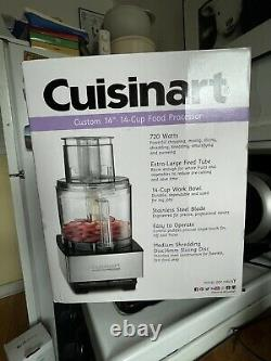 New Cuisinart Custom DFP-14BCNY 14 Cup Food Processor, Brushed Stainless Steel