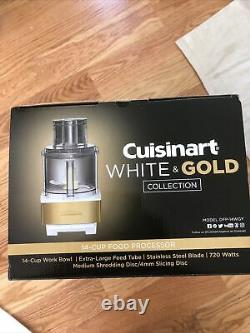 New Cuisinart White & Gold 14 Cup Food Processor
