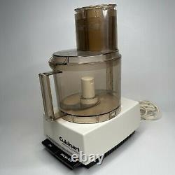 Vintage Cuisinart Food Processor AMBER Model DLC-7E Made in Japan w attachments