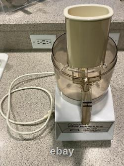 Vintage Cuisinart Food Processor CFP 5A Model with Accessories Lot