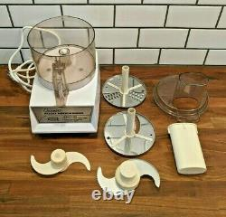 Vintage Cuisinart Food Processor CFP 5A Model with Accessories, WORKING